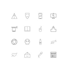 Lifestyle linear thin icons set outlined simple vector