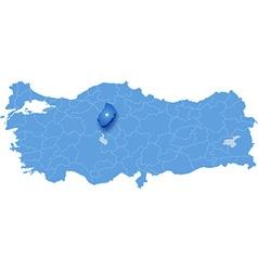 Map of Turkey Kirikkale vector