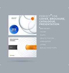 Material design presentation template with vector