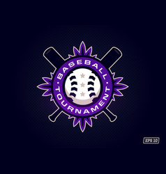 modern professional emblem for baseball tournament vector image