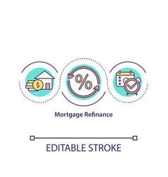 mortgage refinance concept icon vector image