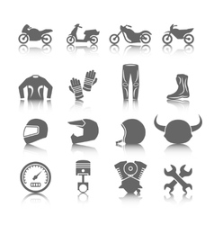 Motorcycle Icons Set vector