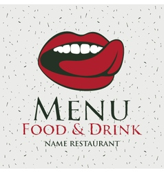 Mouth menu vector