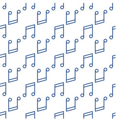 music seamless pattern with musical note vector image