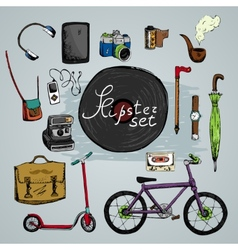 Must have hipster elements vector