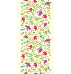 Painted blossoming branches vertical seamless vector