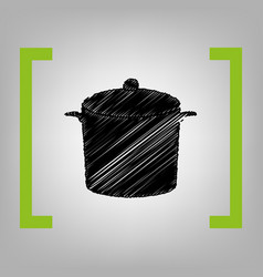 pan sign black scribble icon in citron vector image