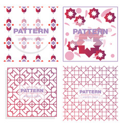 Patterns boho backgrounds square and round design vector