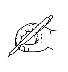 pencil icon doodle hand drawn or outline icon vector image