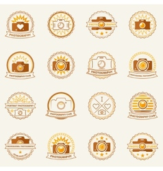 Photography labels and badges vector