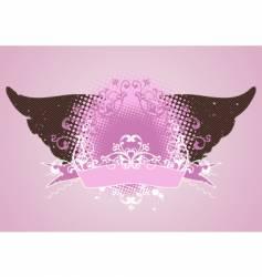 Pink emblem vector