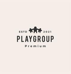 playgroup teacher student kindergarten school vector image