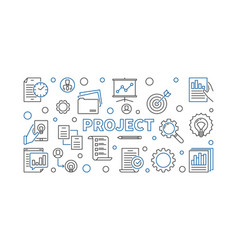Project horizontal concept line vector