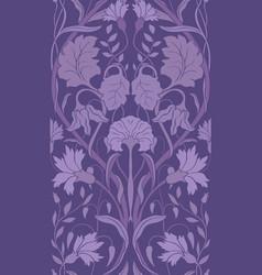 Purple floral pattern vector