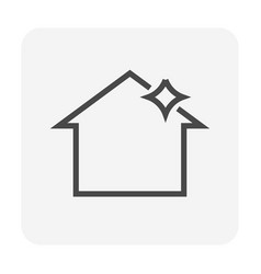 Roof cleaning icon vector