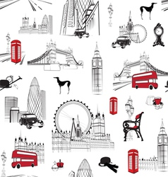 Seamless pattern with English miniatures vector