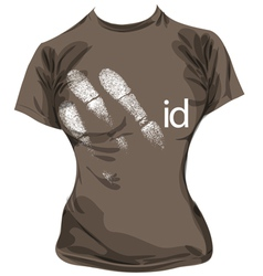 sketch of id tee vector image vector image