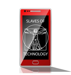 Slaves of technology vector image