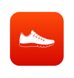 Sneakers icon digital red vector