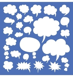 Speech bubbles and thought clouds vector