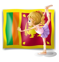 The flag of Sri Lanka and the gymnast vector