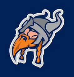 Viking head mascot vector