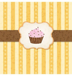 Vintage Cupcake Background vector
