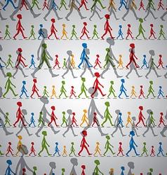 walking kids seamless background vector image