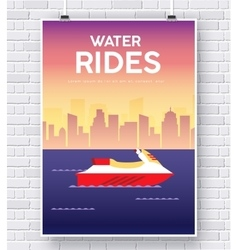 Water Scooter on brick wall vector image