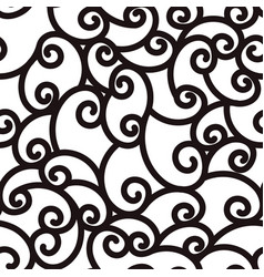abstract seamless waving curling lines black and vector image vector image