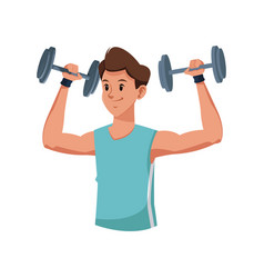 fitness man weight lifting workout vector image vector image