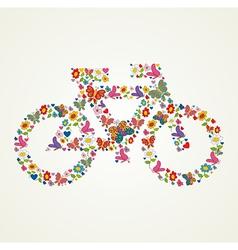 Go green spring icon bike vector image vector image