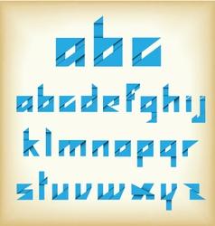 origami alphabet new style vector image