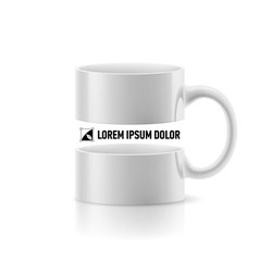 White mug with space in the middle vector image