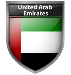 badge design for flag of united arab emirates vector image