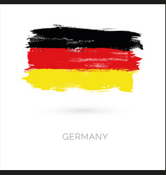 germany colorful brush strokes painted national vector image