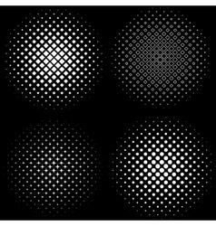 Halftone Frames A set of 4 halftone frame patterns vector image vector image