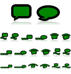 Interaction icons vector image