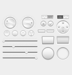 interface buttons web toggle switch buttons vector image vector image