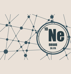neon chemical element vector image