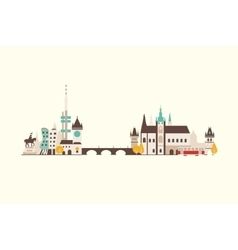 Prague abstract skyline vector image vector image