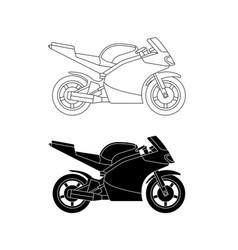 sport bike line vector image vector image