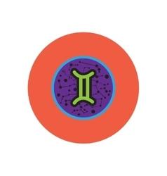 Stylish icon in color circle zodiac sign gemini vector