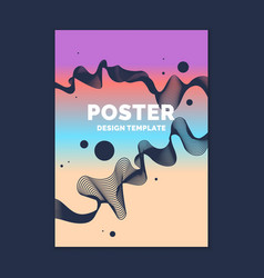 template for a magazine about music modern poster vector image vector image
