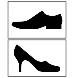 Women and men shoe vector