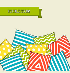 Backround with multicolored decorative pillows vector