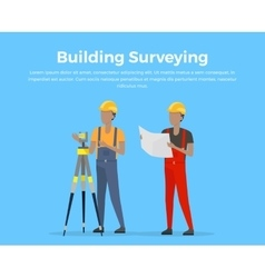 Building Surveying vector image