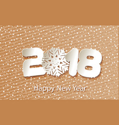 happy new year 2018 background with paper vector image vector image