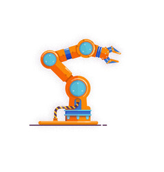 robot arm manipulatormechanical hand isolated on vector image