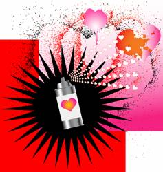 spray on love vector image vector image